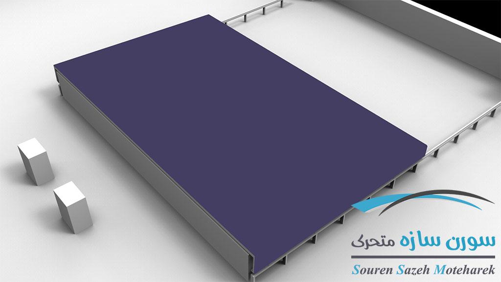 مدل سقف متحرک شیشه ای یک تکه