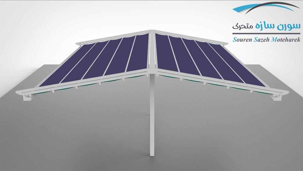 مدل سقف متحرک پارچه ای